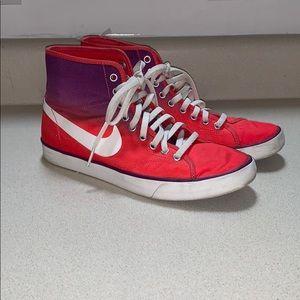 Ombré high top Nike sneakers